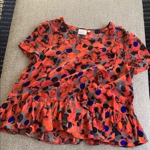 Anthropologie blouse, cute pattern, size 4